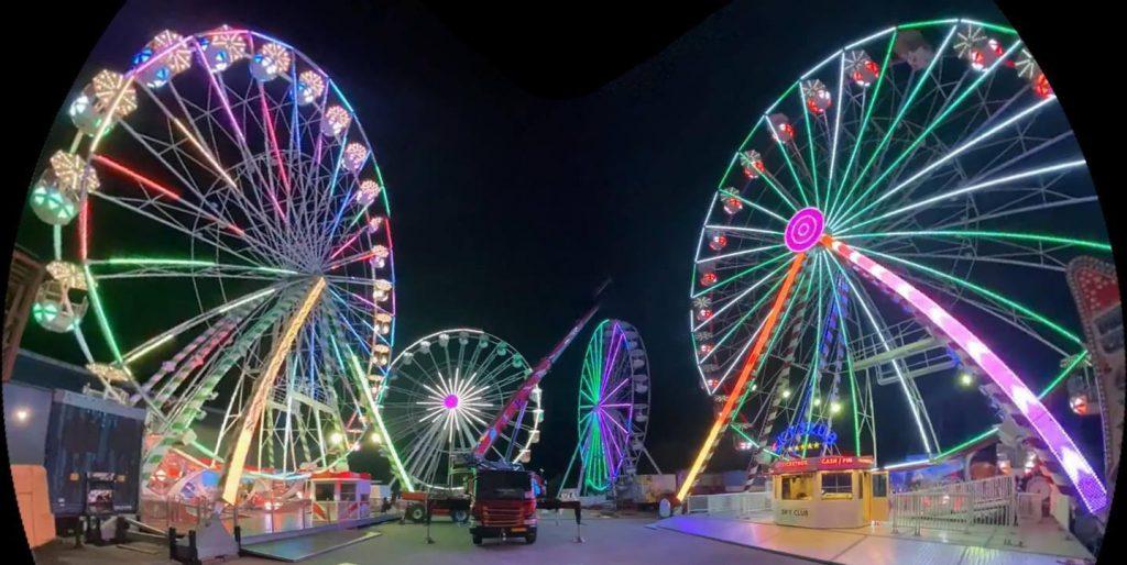 4 Lamberink Ferris Wheels in Overschild